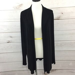 Chico's Travelers Cardigan Sweater Size 3 XL Black